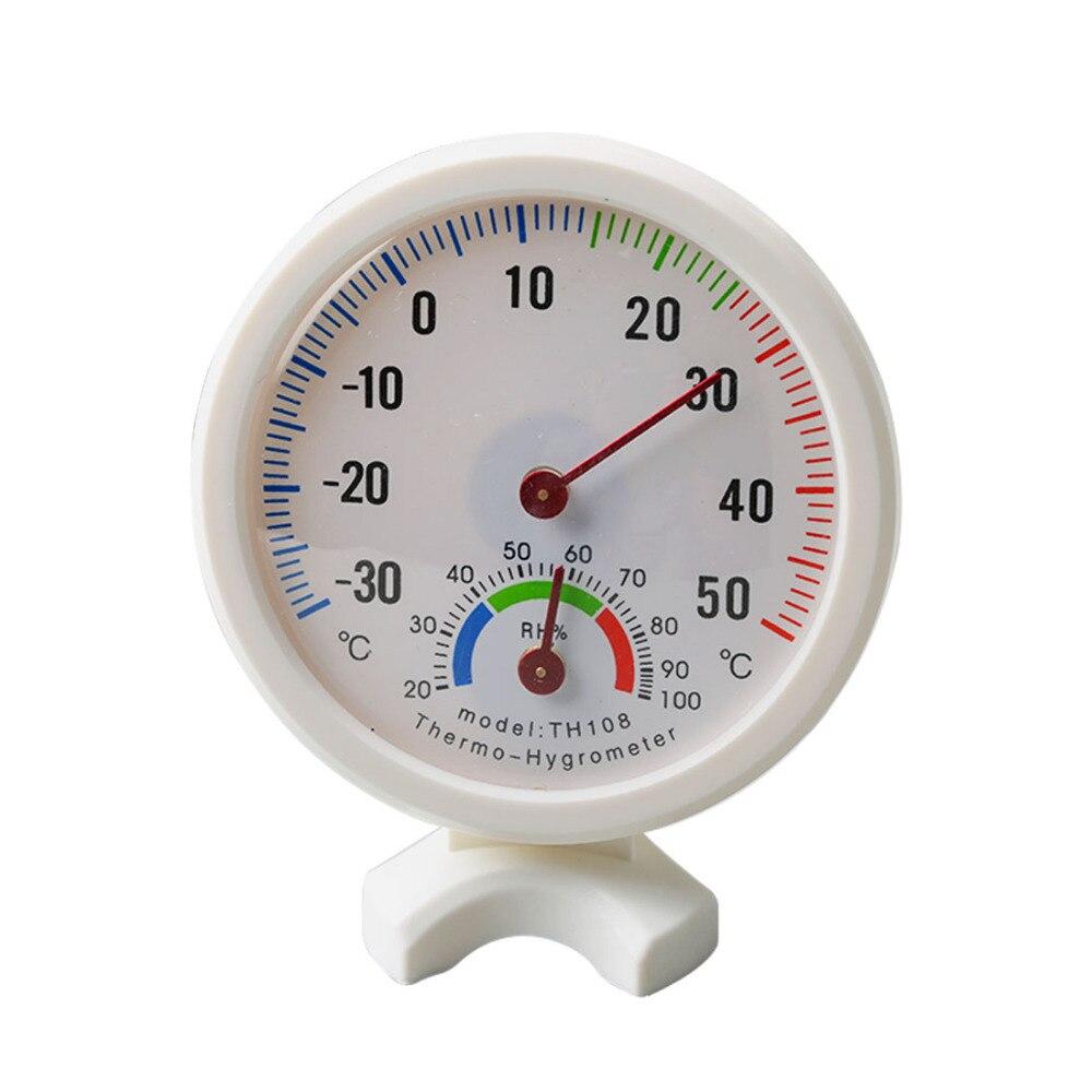 Haute mini ronde horloge en forme de intérieur extérieur hygromètre humidité thermomètre mètre de la température