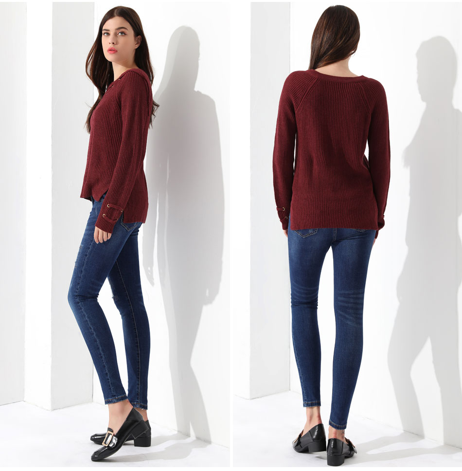Women's Pullover Long Sleeve KnittedSweater 37