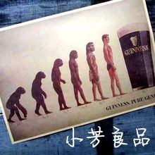 Vintage posters Darwin Evolution of human beings monkey pvc wall stickers vintage home decor wallpaper poster decals for walls