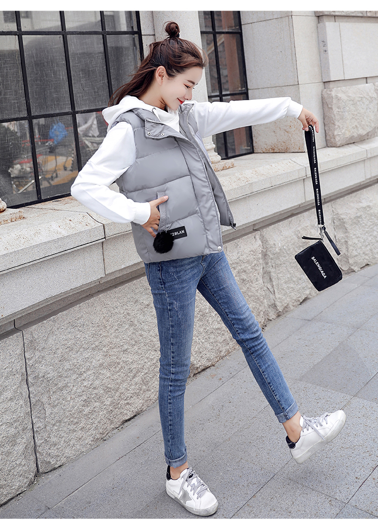 NIJIUDING M-XXXL 2018 New Parka Spring Autumn Slim Velvet Women Vest Jacket Warm Cotton-padded Winter Plus Size Waistcoat female (10)