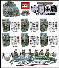 2017 Doll D166 6pcs City Police Kharkov Counter Attack Army With Weapons Toys For Children Building Blocks Compatible With Legoe