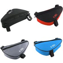 Outdoor Cycling Front Bag Waterproof Triangle Bicycle Front Tube Frame Bag Mountain Bike Pouch Bike Frame Bag Accessories