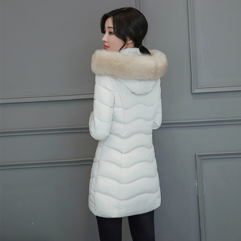 2017 Winter new women fashion big collar collar cotton long section Slim plus thick down jacket women winter jacket size M-XXXLÎäåæäà è àêñåññóàðû<br><br>