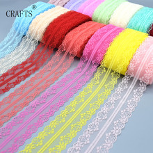 Buy New! wholesale 10 yards long beautiful lace ribbon, 3.6 cm wide, DIY decoration accessories, holiday decorations for $1.00 in AliExpress store