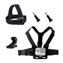 Action Camera Accessories kit for Gopro Hero 5 Chest Head Wrist Mount Strap For Go pro Xiaomi Yi SJCAM Eken H9 Sport Camera 30