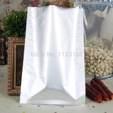 100pcs,22x30cm Silver white Pure Aluminum bags - Heat seal Mylar Foil Plastic Vacuum Pouches food storage sack Open top Flat bag(China)