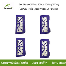 High Quality 4 x Hepa Filters Replacements for Neato xv-11 xv-12 xv-14 xv-15 xv-21 Cleaner XV Signature Pro Vacuum Cleaner Parts