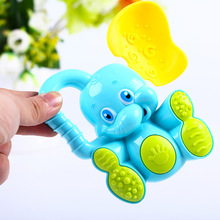 Baby Toys Cute Elephant Baby Rattles Cartoon Animal Plastic Hand Jingle Shaking Bell Toddler Kids Educational Musical Toy