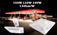 Golden supplier Factory price 130Lm/W Meanwell driver canopy lighting 150W 120W 100W LED gas station light