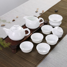Elegant 9pcs white teaset,teapot,cup,gongfu teaware,Porcelain arts,china,Ceramic,gift,for dahongpao,tiegaunyin,back tea etc