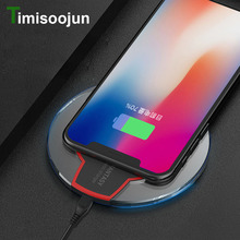 Buy TIMISOOJUN Qi Wireless Charger Apple iPhone X 8 Plus Samsung Galaxy Note 8 S9 S8 S7 Edge Desktop Fast Wireless Charging Pad for $3.09 in AliExpress store