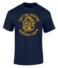 In Summer Of 2017 Pop Cotton Man Tee Us Marines Sgt Carter Bulldog Graphic Officially Licensedband Shirts