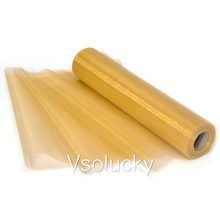 25M x 29CM Gold Sheer Organza Roll Fabric DIY Wedding Party Chair Sash Bows Table Runner Swag Decor Hot Sale
