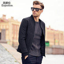 Enjeolon brand 2017 sale quality Bomber casual jackets coat men, cotton jacket black solid coats clothing Jacket clothes JK0458(China)