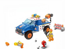 Enlighten City Series Seaside Road Wrecker Car Bricks Building Block Kids Toys Sets Giocattoli Compatible With Lepin Friends(China)
