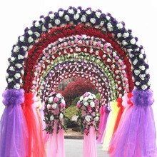 New72CM * 10M / transparent snow yarn flower heart arches yarn curl party activities wedding decoration 5zSH015-2(China)