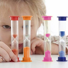 2 Minutes Small Sand Timer Hourglasses Glass Sand Dropping Time Counting Glass Hourglass Timer Home Decorative Clock