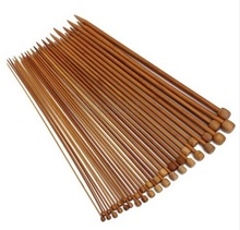 New 40Pcs /Set 36cm 20sizes Carbonized Bamboo Knitting Needles Single Pointed Smooth Crochet tool sets 2.0mm-12.0mm(China)