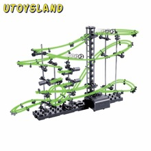 UTOYSLAND DIY Educational Toys Space Rail Level 2 3 4 Steel Marble Roller Coaster Glow In The Dark Spacerail for Kids Toys Gift(China)