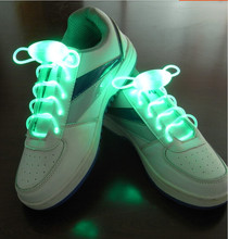 Fiber optic LED light shoe laces toy disco party flashing halloween light up shoelaces shoestring toy 48pcs=24pairs