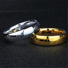 (1 pieces/lot) 100% Tungsten ring 316l Stainless Steel Ring present for men(China)