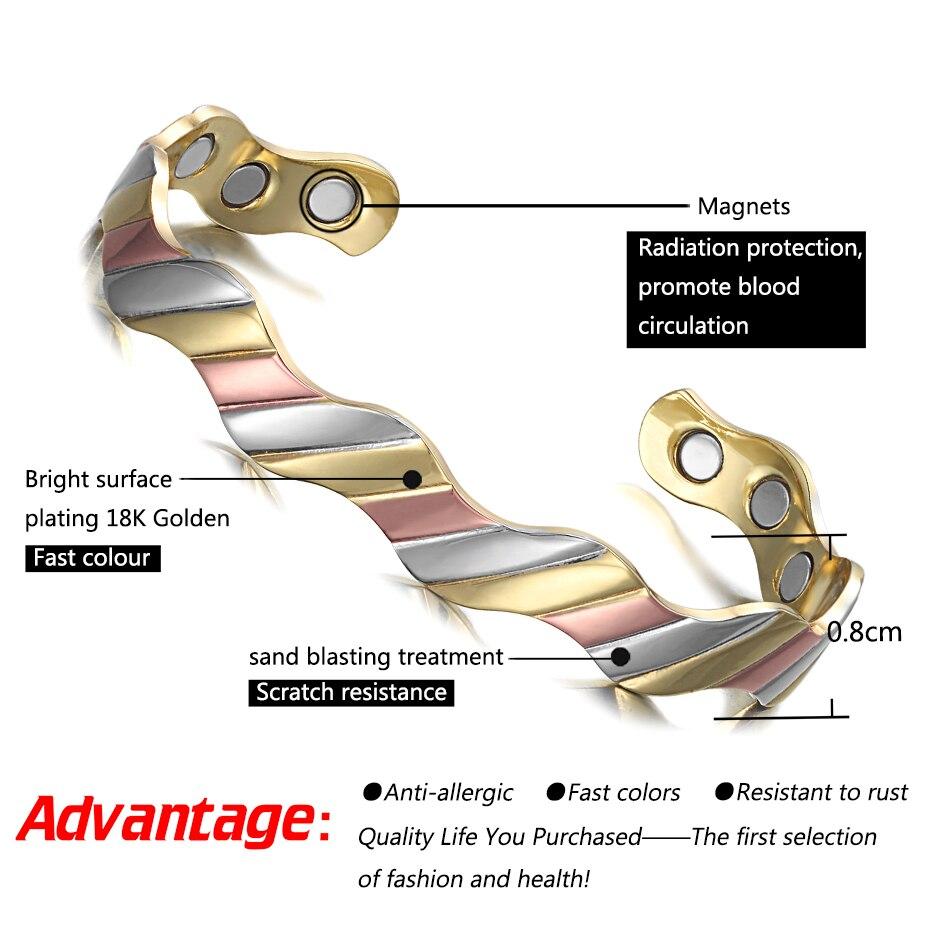 Copper Magnet Healthy Bio Energy Bracelets Bangles  (1)