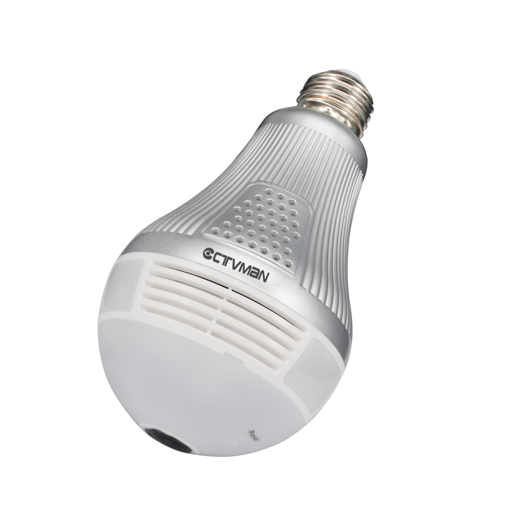 02CTVMAN Wi-fi Panoramic Camera 360 Degree Led Light Bulb Lamp IP Camera HD 3MP Wireless Cam VR