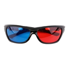 1pc Universal 3D Glasses Black Frame Red Blue 3D Visoin Glass For Dimensional Anaglyph Movie Game DVD Video TV Hot Sale(China)