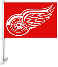 30x45CM Detroit Red Wings car Flag   window Car flag polyester Car decoration with flagpole Free Shipping