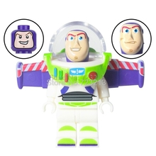 Single Sale Toy IV Story SY Buzz Lightyear Figure with 3 HEAD Building Blocks Set Models Educational Toys for children(China)