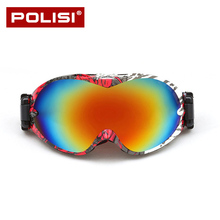 2017 POLISI Skiing Eyewear Ski Glasses Goggles Men Snowboard Goggles Women Snow Glasses  Classic Design Ski Googles P803