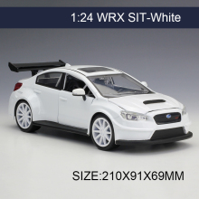 1:24 Model Car WRX STI White Metal Vehicle Play Collectible Models Sport Cars toys For Gift FAST AND FURIOUS 8 F8(China)