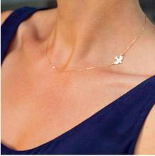 2016 Hot sale Simple Fashion Gold color  Female short clavicle chain necklace Delicate Gold bird Necklace / Dove Necklace