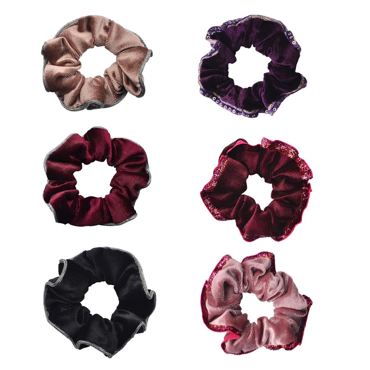 Lady Hairclips For Women Flower Scrunchies Hair Rope Hair Ring Velvet Elastic