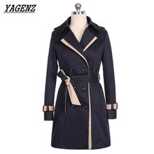 Buy YAGENZ Fashion Spring Autumn Windbreaker Ladies Coats 2017 Large size Slim Double Breasted Outerwear Casual Lady jacket Clothing for $27.53 in AliExpress store