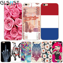 GLSHST For iphone 5 5s 5se 6 6s 4.7'' 7 Case Cover Middle Finger Skull Ruble Balloon Fly Print Capa Funda Soft Silicone Bags