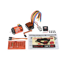 SkyRC 13.5T 2590KV 2P Sensored Brushless Motor+CS60 60A Sensored Brushless ESC+LED Program Card Combo Set for 1/10 1/12 RC Car(China)