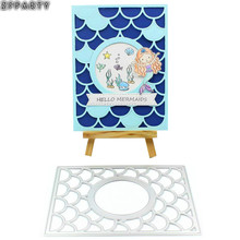 ZFPARTY Wave Frame Metal Cutting Dies Stencils for DIY Scrapbooking/photo album Decorative DIY Paper Cards(China)
