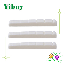 Yibuy 3pcs Guitar Bone Nut 42*3.5*4.5/3.5 For Electric Guitar Parts(China)