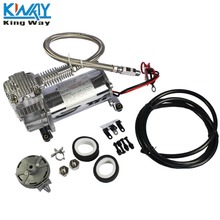 "FREE SHIPPING-King Way- Small 150 PSI AIR COMPRESSOR 1/4 ""  HOSE KIT 12V FOR TRAIN HORNS BAG SUSPENSION"