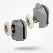 New Set of 4 Top +4 Bottom Single Shower Door Rollers / Runners / Wheels / Pulleys / Guides 23mm Diameter Home Bathroom(China)