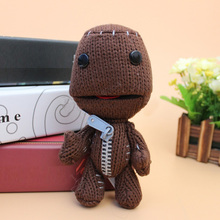 Little Big Planet Plush Toys Brown Sackboy Sackgirl Cotton Stuffed Animals Soft Dolls 16cm(China)