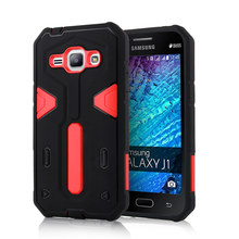 For Samsung Galaxy J1 [Cool Robot] PC + TPU Hybrid Cell Phone Back Case Armor Cover Dust Plug Drop Protection Fashion