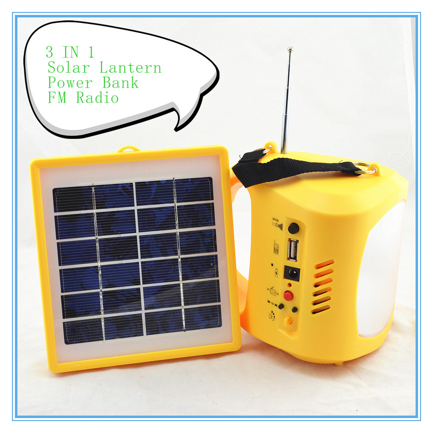 Portable LED Solar lantern lamp USB mobile phone charging FM radio 3 IN 1 Tent Light Luz Lampara Lanterns for outdoor camping<br><br>Aliexpress