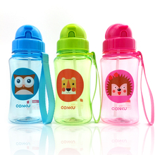 Eco-friendly PP Kid Bickiepegs baby cups baby cartoon bottle children Straw Bottle Children bottle 400ml