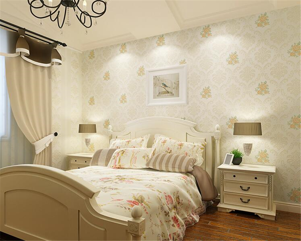 beibehang papel de parede wall paper Stereo Fashion Aesthetic Relief Wallpaper Pastoral Nonwovens Warm and romantic 3d wallpaper<br>