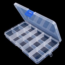 1Pc Fishing Lure Hook Bait Storage Adjustable 15 Compartments Plastic Fishing Tackle Box For Fishing Accessories