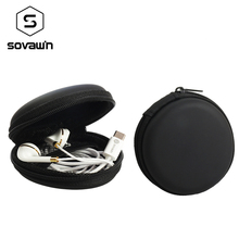 Sovawin Protable Earphone Case Bag Headphone Case Bag Earbud Carrying Storage Bag Pouch Hard Case Earphone Accessories