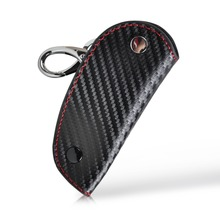 DWCX New 3D Leather Carbon Fiber Remote Key Case chain keyless Fob cover Holder for Audi BMW Volkswagen Honda Toyota Mazda Lexus(China)