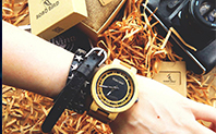 CnwinTech Bamboo Wood Watches Men Casual Clock - BOBO BIRD 22